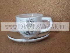 Teás csésze készlet levendula mintás