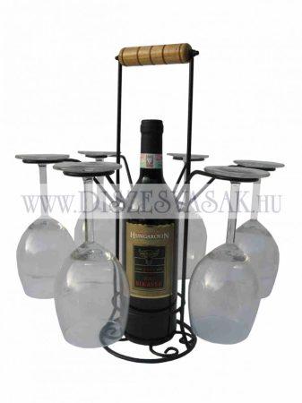 Weinflasch halter mit Glashalter