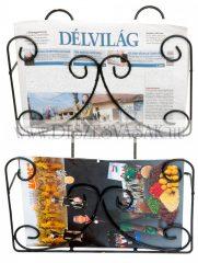 Wall magazine rack - double