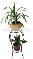 Two-tier plant stand, floral