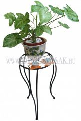 Flower pot stand with S leg, floral